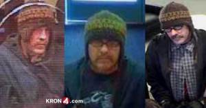 KRON4 Images of The Cotton Ball Bandit in action.