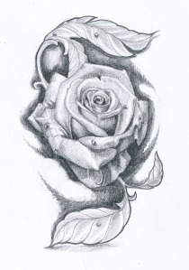 rose_tattoo_design_ii_by_klosmagda-d6vt5qz