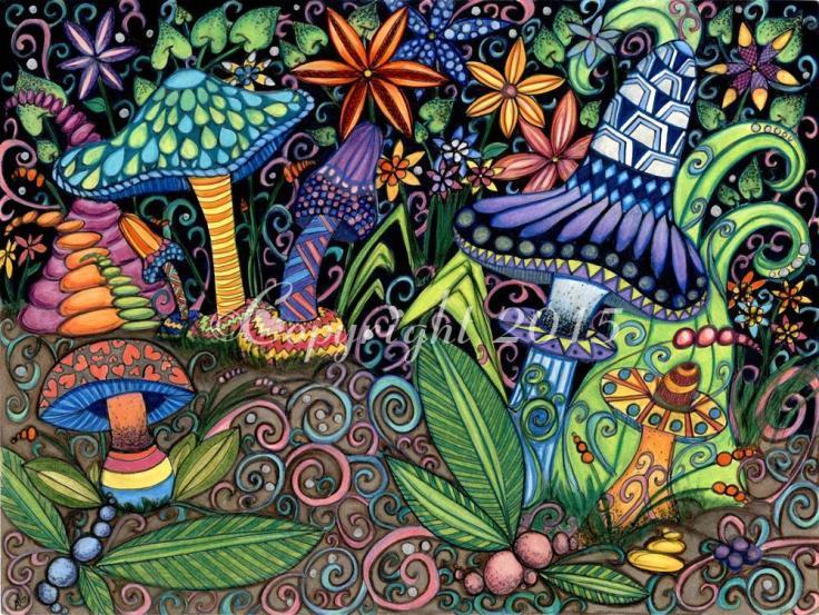 Fantasy Shroom Garden 1 Copyright 2015